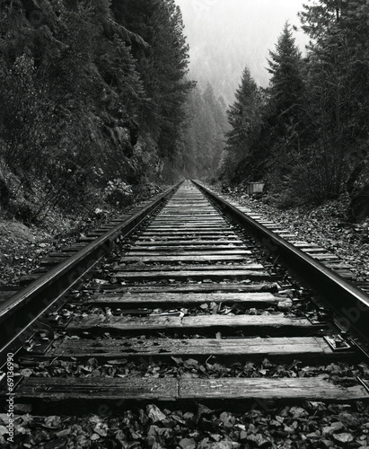 Fototapeta North Idaho Train Tracks