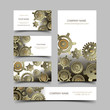 Mechanic business cards set