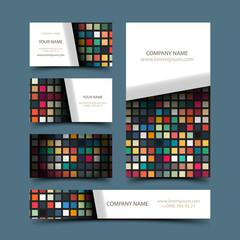Mosaic business card set