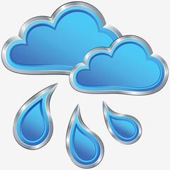vector icon of rainy weather