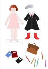 paper doll scuola