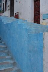 Escalier bleu, Maroc