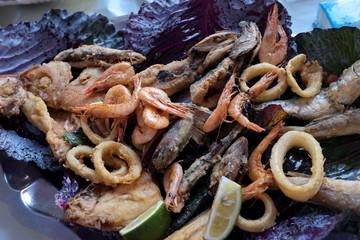 friture de poissons