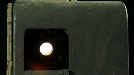 16mm Filmprojektor im Gegenlicht