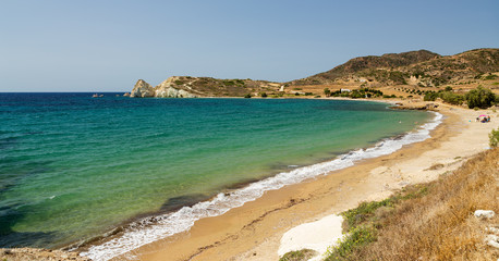 Mavrospilia beach, Kimolos island, Cyclades, Greece