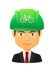 Male avatar with a bicycle
