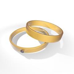Gouden trouw ringen