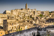 Ancient town of Matera at sunset, Basilicata, Italy