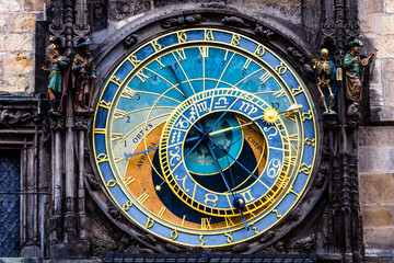 Detail of the Prague Astronomical Clock in the Old Town,Prague