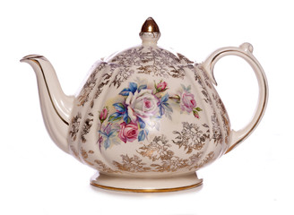vintage floral tea pot
