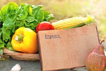 fresh organic vegetables in my garden