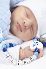 Säugling beim Aufwachen