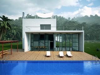 Tropical Villa and Pool