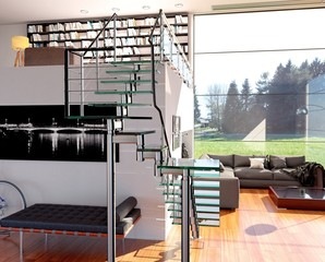 Large Loft Living Room