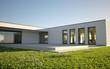 canvas print picture - Modern Villa