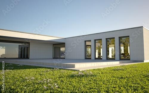 canvas print picture Modern Villa