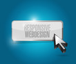 responsive web design button illustration