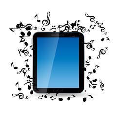 Mobile Music Phone Vector Illustration.