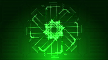 Green Looping Technical Abstract Array