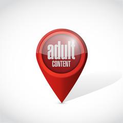 adult content pointer illustration design