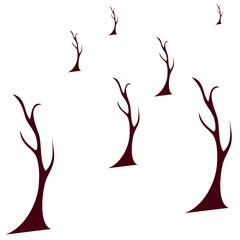 Autumn Tree Vector Illustration.