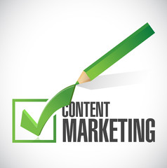 content marketing check mark illustration design