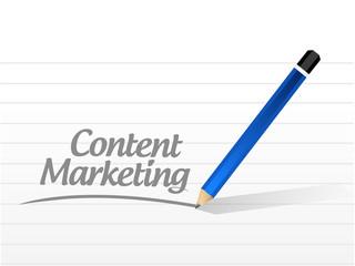 content marketing message illustration design