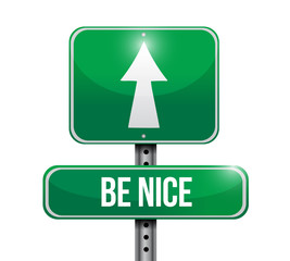 be nice sign illustration design