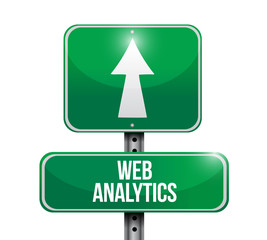 web analytics sign illustration design
