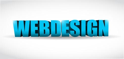 webdesign 3d text illustration design