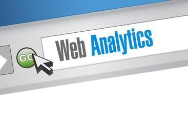 web analytics internet browser sign illustration
