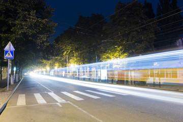 Kirov Avenue at night, Pyatigorsk, Russia