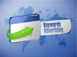 keyword advertising browser sign illustration