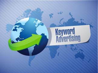 keyword advertising sign illustration design