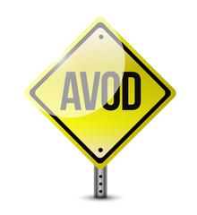avod sign illustration design