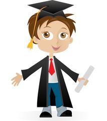 Graduated boy