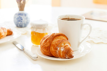 Croissant and a cup of espresso