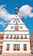 Die Rothenburger Ratstrinkstube am historischen Marktplatz