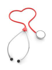 Shape of heart in stethoscope