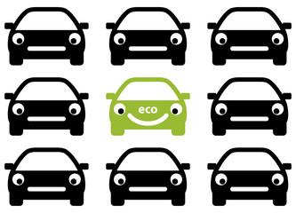 Ecology car friendly concept. Vector.