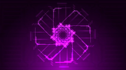 Purple Looping Technical Abstract Array