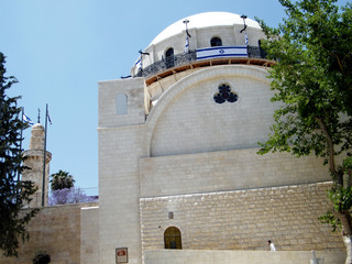 Jerusalem Hurva Synagogue and minaret 2010