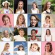16 junge Mädchen