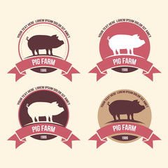 pig meat,farm label