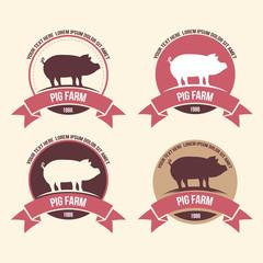 pig meat,farm label