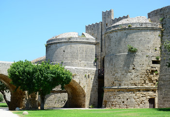 Castle in Rhodes Greece - The Palace of the Grand Master of the