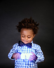 Cute little scientist
