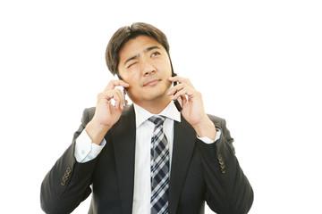 苦悩するビジネスマン