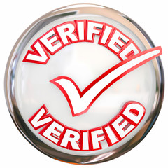 Verified Stamp Button Check Mark Inspected Certified