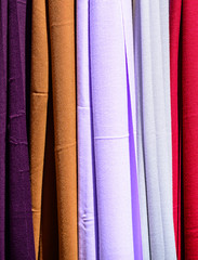 Colored scarves texture